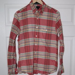 J.Crew 100% Cotton Long Sleeve  Plaid Shirt Casual